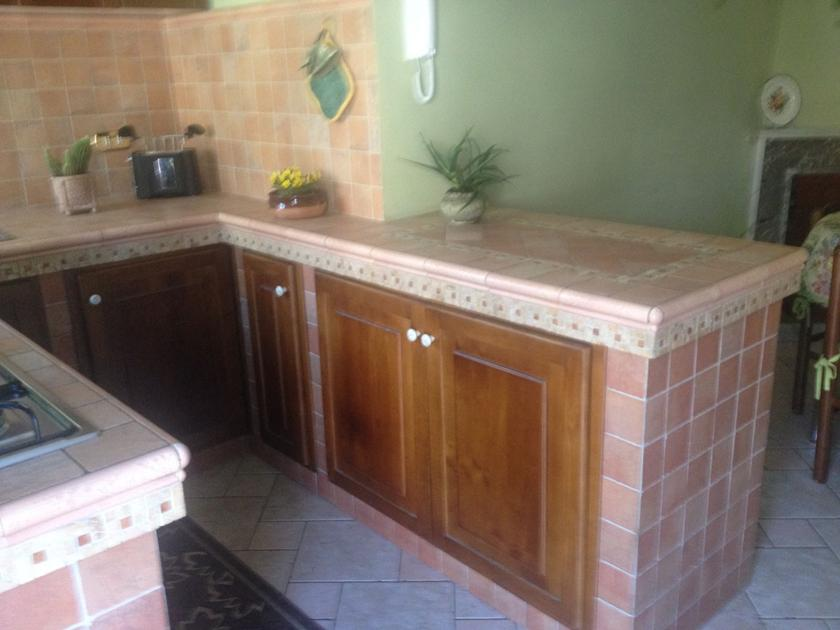Cucina in muratura in poco spazio